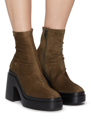 Figure View - Click To Enlarge - CLERGERIE - Nina' Suede Platform Ankle Boots