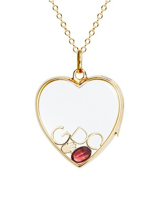 Figure View - Click To Enlarge - Loquet London - BIRTHSTONE CHARM - JANUARY 'ALWAYS THERE' GARNET