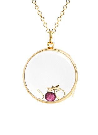 Figure View - Click To Enlarge - LOQUET LONDON - BIRTHSTONE CHARM - OCTOBER 'HOPE' TOURMALINE