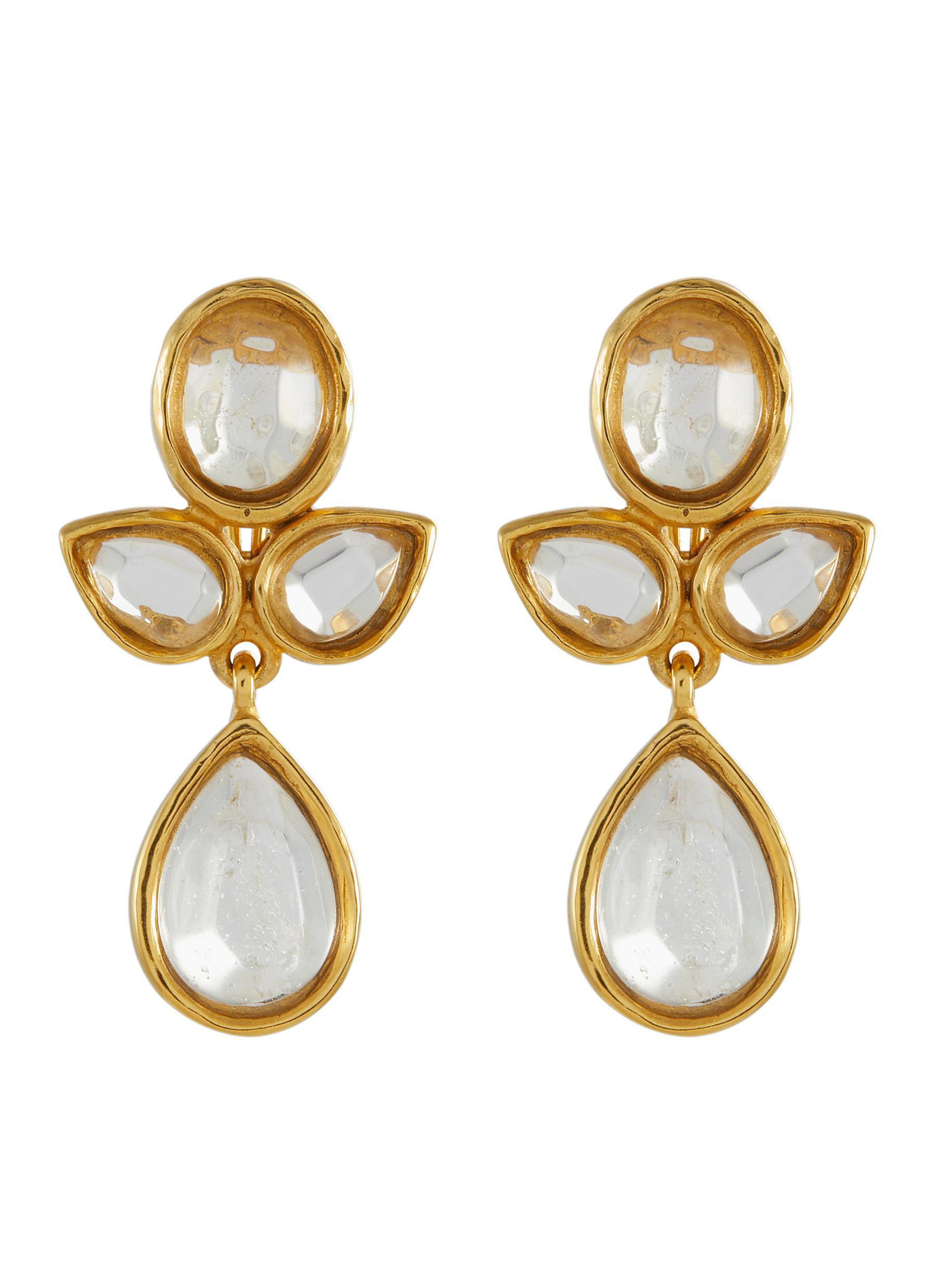 Cachemire' Rhinestone Drop Earrings