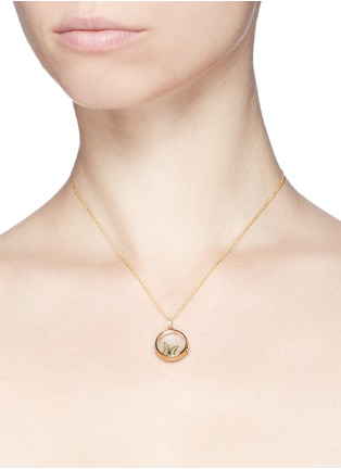 Detail View - Click To Enlarge - Loquet London - 18k yellow gold diamond butterfly charm - Beauty