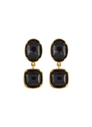Main View - Click To Enlarge - GOOSSENS - Cabochon Bead Clip Drop Earrings