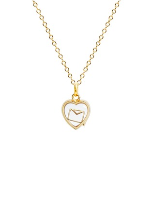 Figure View - Click To Enlarge - Loquet London - 18k yellow gold envelope charm - Love Letters
