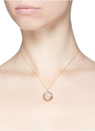 Detail View - Click To Enlarge - Loquet London - 18k yellow gold moon charm - Intuition