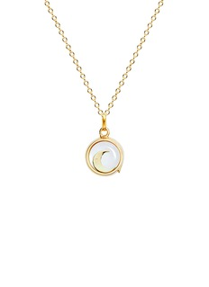 Loquet London 18k yellow gold moon charm - Intuition