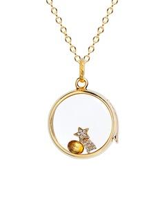 Loquet London 18k yellow gold diamond shooting star charm - Make a Wish