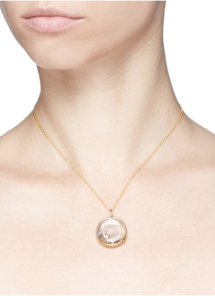 Detail View - Click To Enlarge - LOQUET LONDON - 18k yellow gold letter charm - H