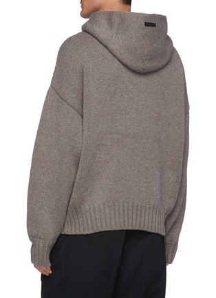 Back View - Click To Enlarge - FEAR OF GOD - Knit Wool Hoodie