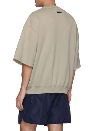 Back View - Click To Enlarge - FEAR OF GOD - Overlapped Three Quarter Sleeve Fleece Sweatshirt