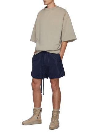 Figure View - Click To Enlarge - FEAR OF GOD - Overlapped Three Quarter Sleeve Fleece Sweatshirt