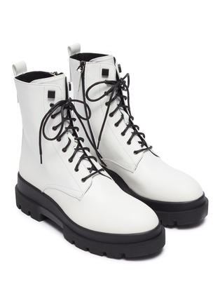 Detail View - Click To Enlarge - LA CANADIENNE - Brendan' Rubber Lug Sole Lace Up Leather Combat Boots