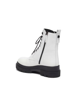 - LA CANADIENNE - Brendan' Rubber Lug Sole Lace Up Leather Combat Boots