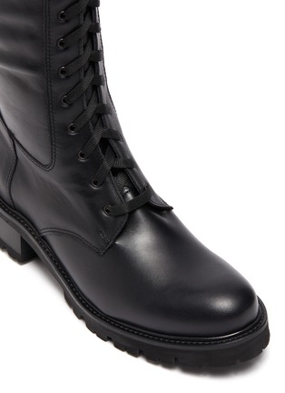 Detail View - Click To Enlarge - LA CANADIENNE - Caprice' Tall Lace Up Leather Boots