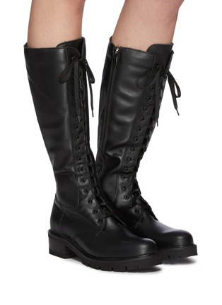 Figure View - Click To Enlarge - LA CANADIENNE - Caprice' Tall Lace Up Leather Boots