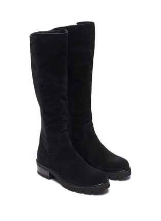 Detail View - Click To Enlarge - LA CANADIENNE - Cagney' Tall Suede Knee High Boots