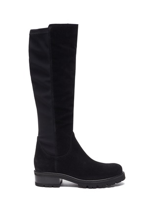 Main View - Click To Enlarge - LA CANADIENNE - Cagney' Tall Suede Knee High Boots