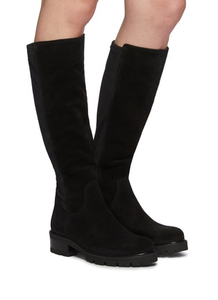 Figure View - Click To Enlarge - LA CANADIENNE - Cagney' Tall Suede Knee High Boots
