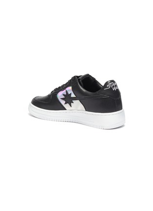 - STARWALK - Laser 2.0' Black Leather Sneakers With Iridescent Panels