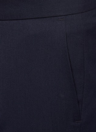 - DANIEL W. FLETCHER - Buttoned Split Hem Wool Blend Tailored Trousers
