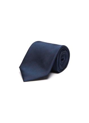 Main View - Click To Enlarge - STEFANOBIGI MILANO - Silk Permanent Herringbone Plain Tie