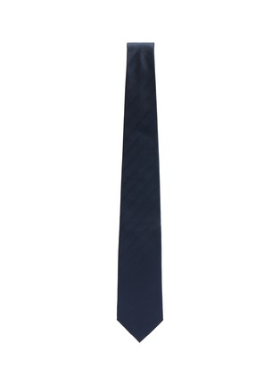 Figure View - Click To Enlarge - STEFANOBIGI MILANO - Silk Permanent Herringbone Plain Tie