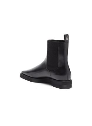 - TOTÊME SHOES - Square Toe Leather Chelsea Boots