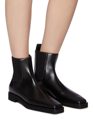 Figure View - Click To Enlarge - TOTÊME SHOES - Square Toe Leather Chelsea Boots