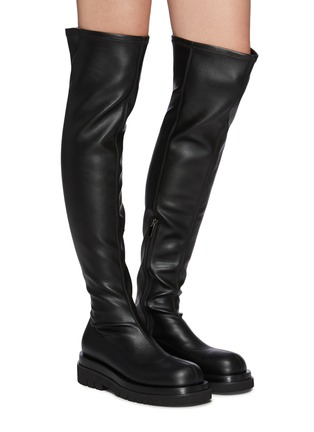Figure View - Click To Enlarge - PEDDER RED - Cassidy - Platform Square Toe Boot
