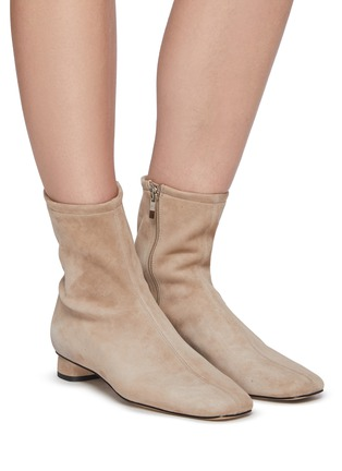 Figure View - Click To Enlarge - PEDDER RED - Gemmie' Stretch Suede Ankle Boots