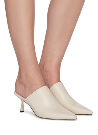 Figure View - Click To Enlarge - PEDDER RED - Ariel' Stretch Leather Mules