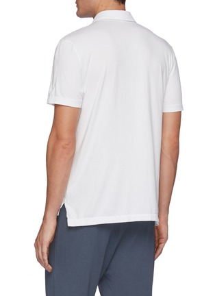 Back View - Click To Enlarge - JAMES PERSE - Lightweight Jersey Revise Standard Short Sleeve Polo