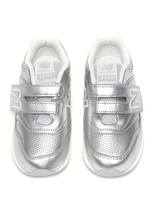 Figure View - Click To Enlarge - NEW BALANCE - Leather '997' Low Top Velcro Perforated Sneakers