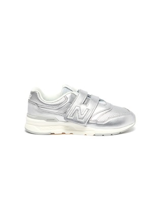 Main View - Click To Enlarge - NEW BALANCE - Leather '997' Low Top Velcro Perforated Sneakers