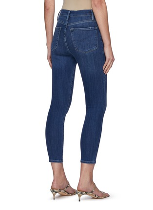 Back View - Click To Enlarge - FRAME DENIM - Ali' High Rise Washed Skinny Cigarette Jeans