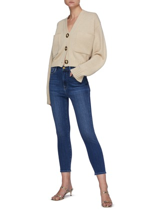 Figure View - Click To Enlarge - FRAME DENIM - Ali' High Rise Washed Skinny Cigarette Jeans