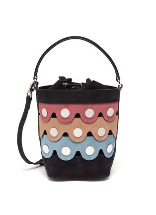 Main View - Click To Enlarge - PIERRE HARDY - Penny' Suede Bucket Bag