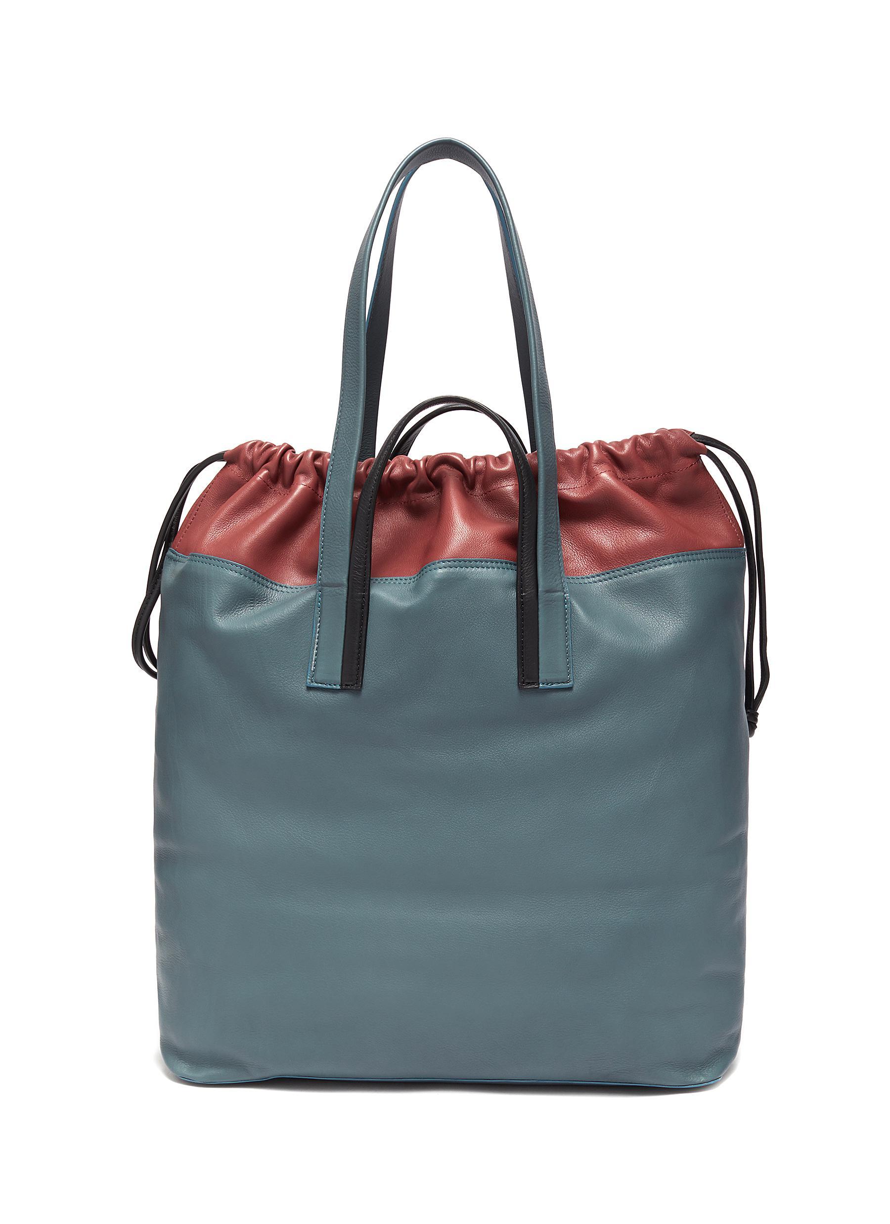 Cabas' Bicoloured Grained Calfskin Leather Twin Tote Bag - PIERRE HARDY - Modalova