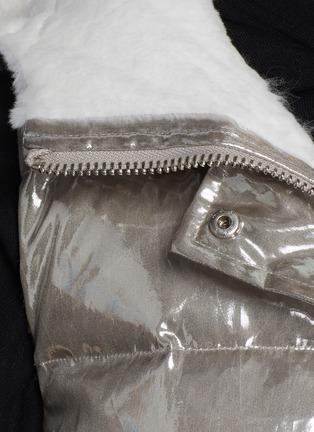 - YVES SALOMON - Nylon and Shaved Rabbit Reversible Hooded Sleeveless Down Jacket