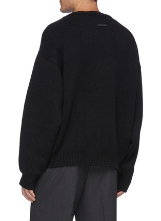 Back View - Click To Enlarge - FEAR OF GOD - Overlapped Crewneck Wool Sweater