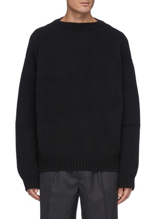 Main View - Click To Enlarge - FEAR OF GOD - Overlapped Crewneck Wool Sweater