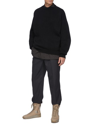 Figure View - Click To Enlarge - FEAR OF GOD - Overlapped Crewneck Wool Sweater