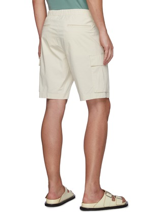 Back View - Click To Enlarge - THEORY - Wilmar Slub Cotton Blend Cargo Shorts
