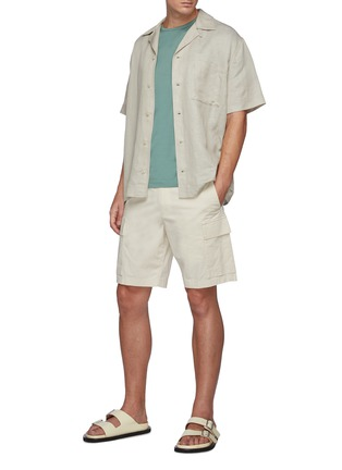 Figure View - Click To Enlarge - THEORY - Wilmar Slub Cotton Blend Cargo Shorts