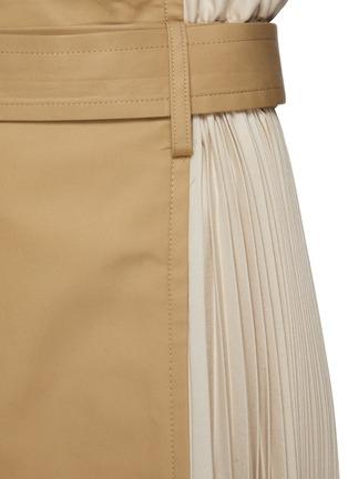 - THE KEIJI - Pleated Panel Denim Skirt