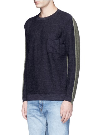 Front View - Click To Enlarge - COVERT - Colourblock virgin wool sweater