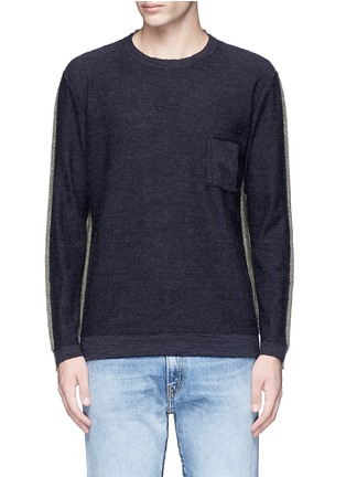 Main View - Click To Enlarge - COVERT - Colourblock virgin wool sweater