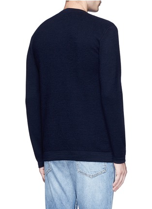 Back View - Click To Enlarge - COVERT - Button side virgin wool sweater