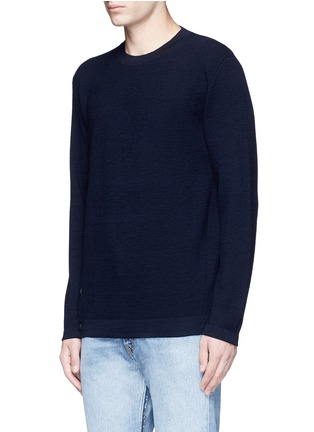 Front View - Click To Enlarge - COVERT - Button side virgin wool sweater