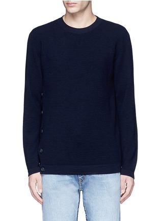 Main View - Click To Enlarge - COVERT - Button side virgin wool sweater