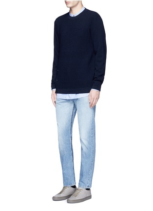 Figure View - Click To Enlarge - Covert - Frayed cotton jeans